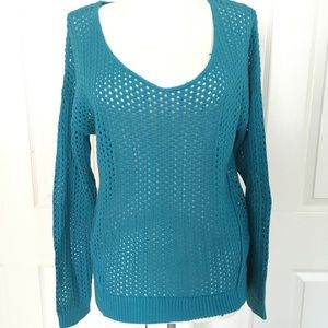 BP • Blue Open Knit Pullover Sweater
